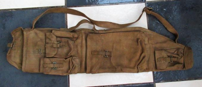 WW2 BRITISH BREN GUN BARREL HOLDALL AND SPARE PARTS CARRIER